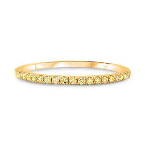 HALF PAVE YELLOW DIAMOND BAND