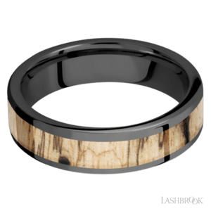 Black Zirconium and Spalted Tamarind Hardwood