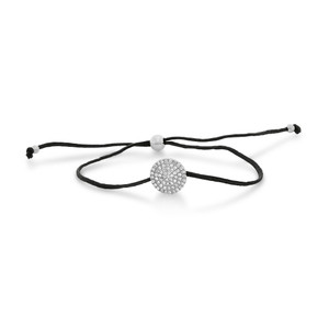 Diamond Disc String Bracelet