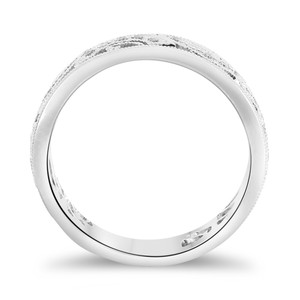 Ladies Pave Set Filigree Wedding Band