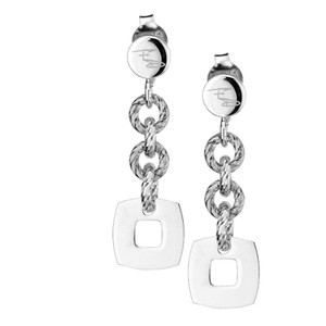 STERLING SILVER GLIMMER + SQUARE EARRINGS