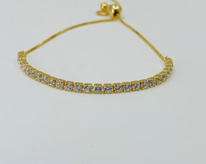Sterling Silver and Gold Plated Adjustable Bracelet