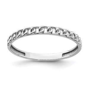 14KT WHITE GOLD LINK RING