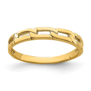 14K Five Chain Link Band Ring