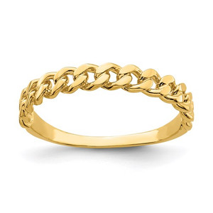 14k Chain Link Band Ring