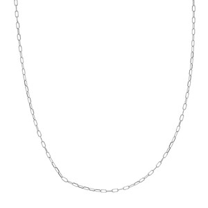 14K WHITE GOLD 1.7MM PAPER CLIP CHAIN