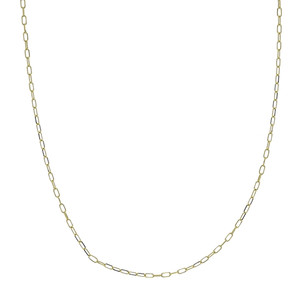 14K YELLOW GOLD 1.7MM PAPER CLIP CHAIN