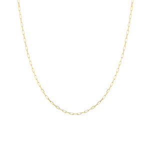 14K YELLOW GOLD 1.95MM PAPER CLIP CHAIN