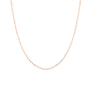 14K ROSE GOLD 1.95MM PAPER CLIP