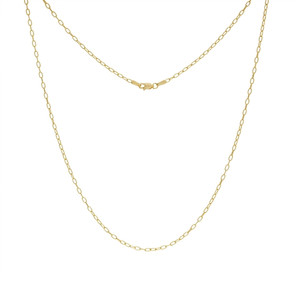 14K YELLOW GOLD 2.05MM PAPER CLIP CHAIN