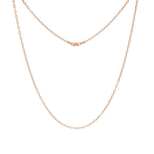 14K ROSE GOLD 2.05MM PAPER CLIP CHAIN