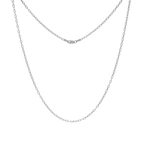 14K WHITE GOLD 2.05MM PAPER CLIP CHAIN