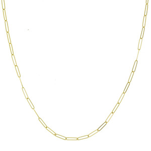 14K YELLOW GOLD 2.6MM PAPER CLIP CHAIN
