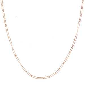 14K ROSE GOLD 2.6MM PAPER CLIP CHAIN