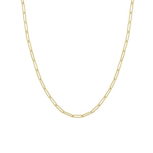 14K YELLOW GOLD 3.9MM PAPER CLIP CHAIN