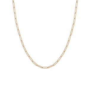 14K ROSE GOLD 3.9MM PAPER CLIP CHAIN