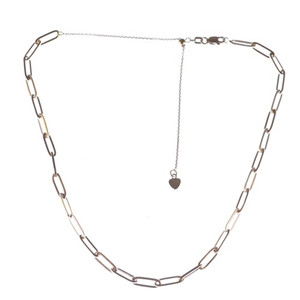 3.9MM FLAT WIRE LONG LINK ADJ CHOKER