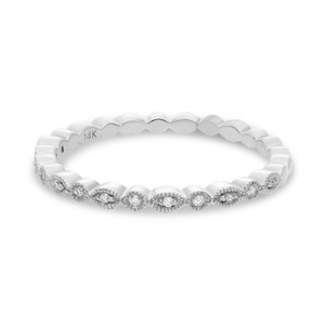 WHITE GOLD MARQUISE AND DOT DIAMOND BAND