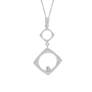 STERLING SILVER AND BLUE TOPAZ (IRRADIATED) CAMILLE NECKLACE