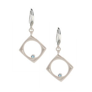 STERLING SILVER AND BLUE TOPAZ (IRRADIATED) CAMILLE EARRINGS