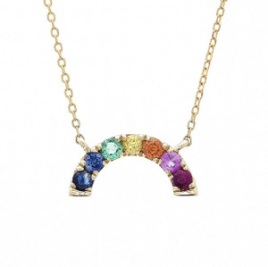 14k Rainbow Necklace