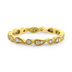 Paisley Yellow Gold Diamond Band