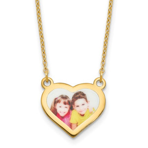 Picture Jewelry Heart Necklace