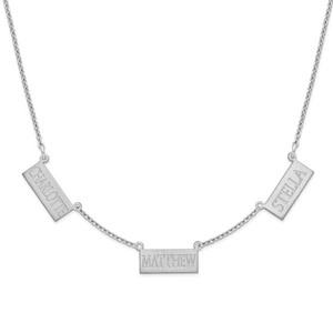 Sterling Silver Triple Horizontal Bar Necklace