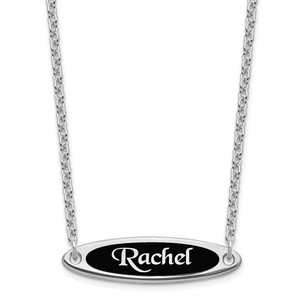 Enameled Name Necklace