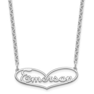 Heart Nameplate Necklace