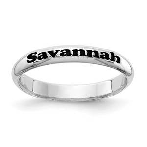 Sterling Silver Stackable Name Ring