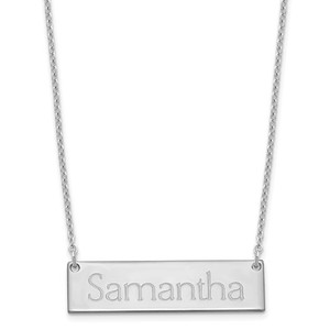 Polished Name Bar with Chain