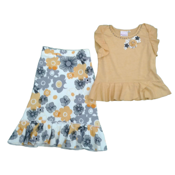 Girls Set -yellow flower