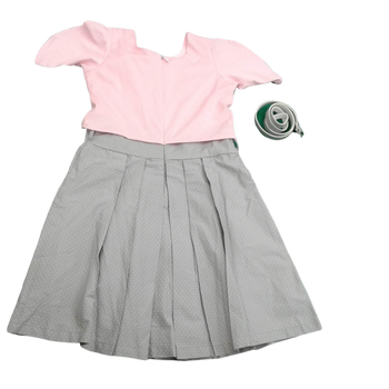 Girls Dress - Pink/Grey