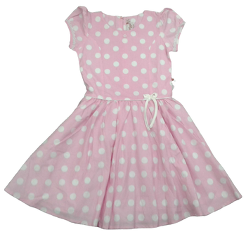 Girls Dress - Pink With Dotts