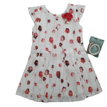 Girls Dress - Red roses