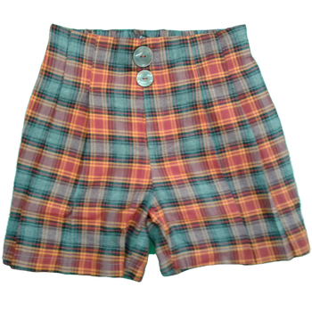 Girls Shorts red checks