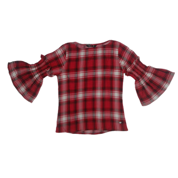 Girls Top - Red Checks