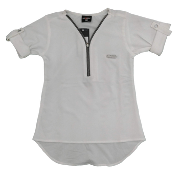 Girls Top - White zip