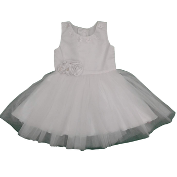Girls Dress - White Flowers