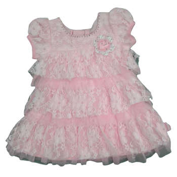 Girls Dress - pink diamond