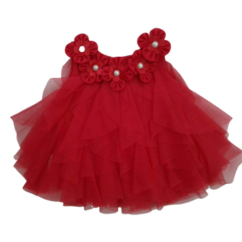 Girls Dress - RED  XS