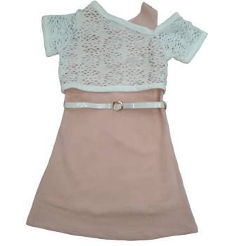Girls Dress - peach net