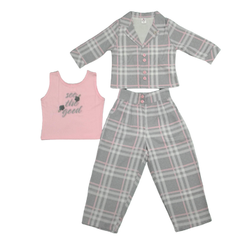 Girls Set - pink /grey