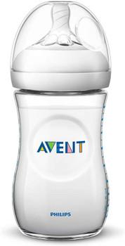 Natural feeding bottle 260ml ( 1m+) clear