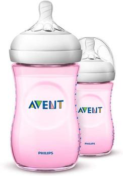 Natural feeding bottle 260ml/9oz ( pack of 2 )pink