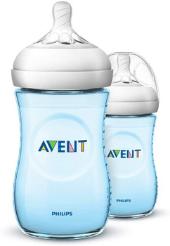 Natural feeding bottle 260ml/9oz ( pack of 2 )Blue