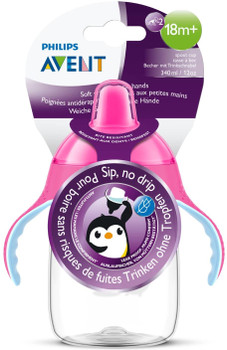 My Penguin Sippy Cup 12oz ( 18M+ ) 340ML Pink