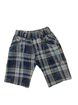Shorts - Blue plaid
