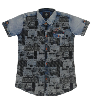 Boys designer shirt - Light blue
